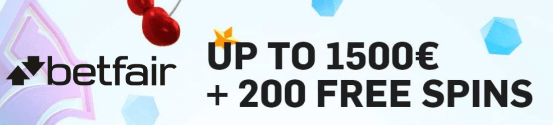 betfair €1500 bonus + 200 free spins