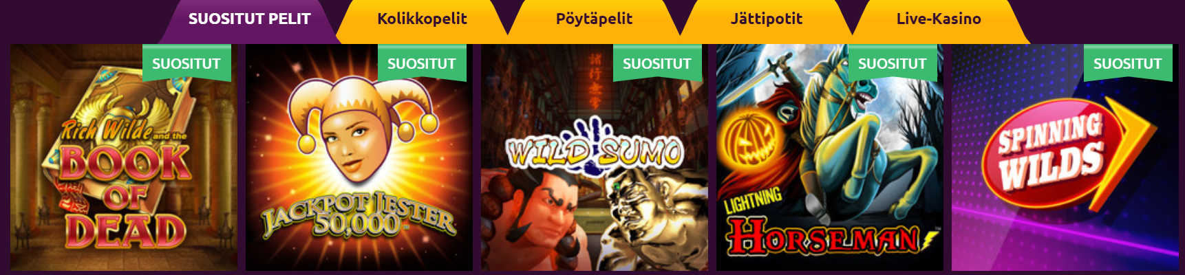 pelit slots magic