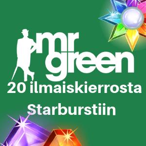 mrgreen 20 free spins