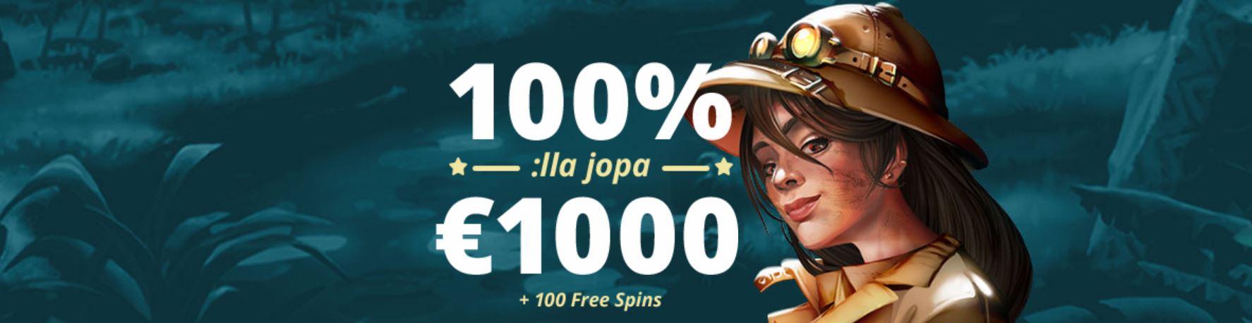 100% bonus + 100 spins