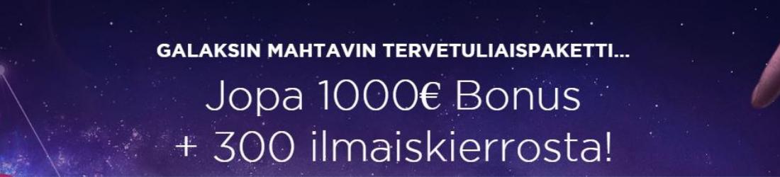genesis 1000€ bonus + 300 free spins