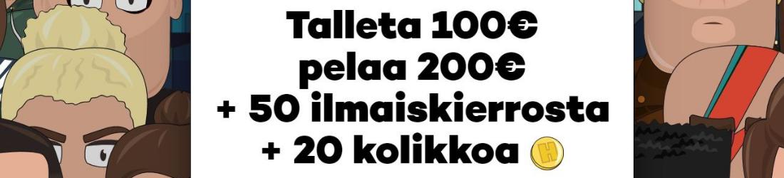 high roller 200 % bonus jopa 100 euroon
