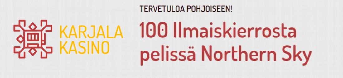 karjala 100% bonus 100€