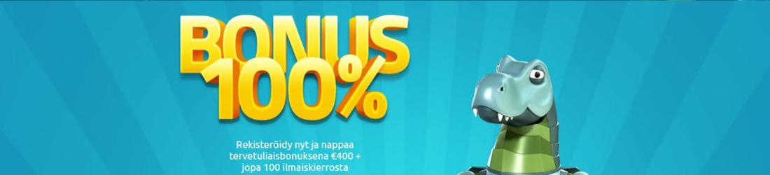 Lucky dino 100% bonus