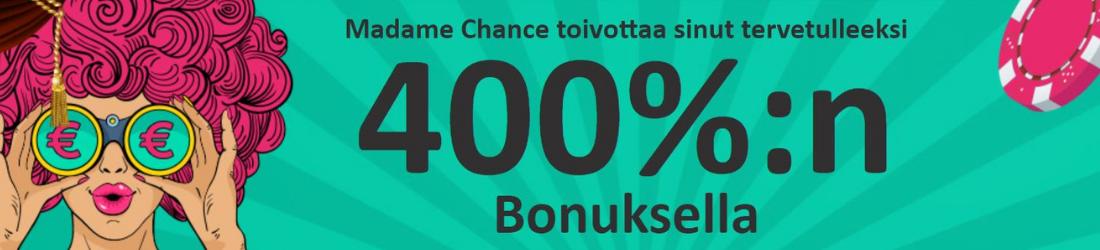 madame chance 400% bonus