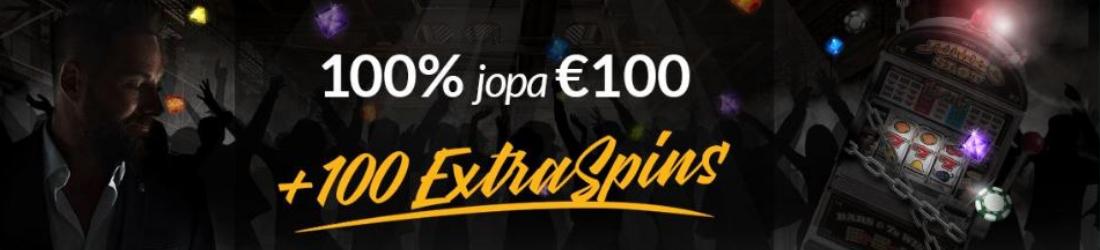 shadowbet €100 bonus + 100 spins FI