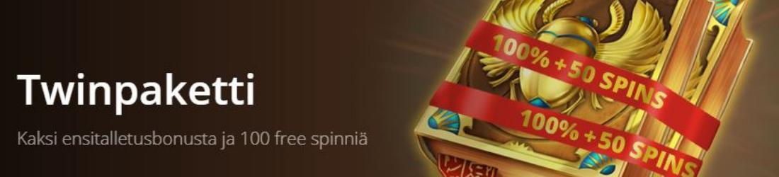 twin €200 bonus + 100 free spins