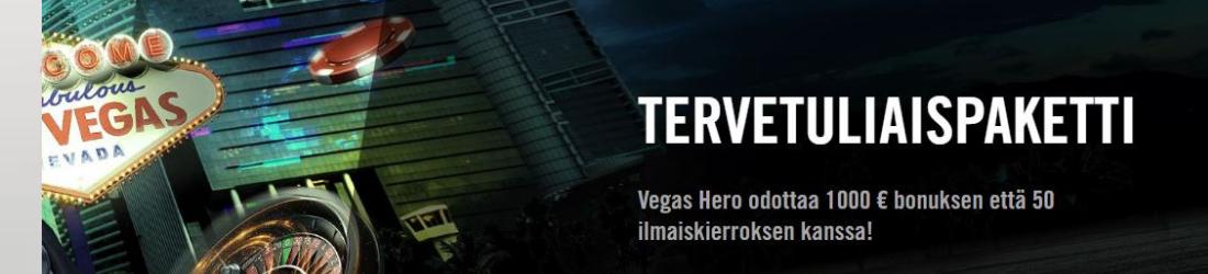 vegas hero €1000 bonus + free spins