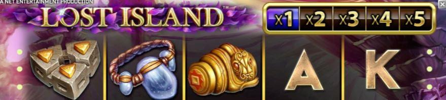 Lost Island FI kolikkopeli
