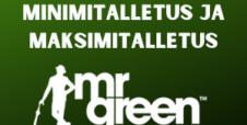 Minimitalletus ja maksimitalletus Mr Green Casinolla