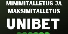 Minimitalletus ja maksimitalletus Unibet Casinolla